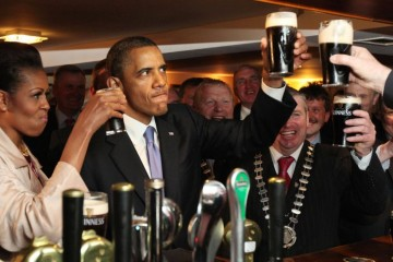 Obama in irish pub
